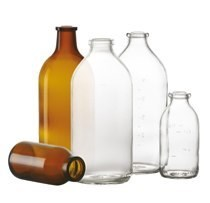 Picture of 100 ml infusion bottle, clear, type 1 moulded glass