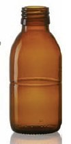 Picture of 100 ml syrup bottle, amber, type 3 moulded glass