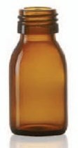 Picture of 125 ml syrup bottle, amber, type 3 moulded glass