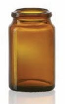 Picture of 17 ml tablet jar, amber, type 3 moulded glass
