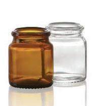 Picture of 18 ml tablet jar, amber, type 3 moulded glass