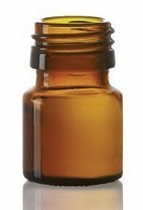 Picture of 20 ml dropper bottle, amber, type 3 moulded glass