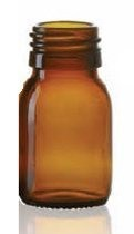 Picture of 30 ml dropper bottle, amber, type 3 moulded glass