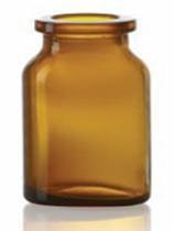 Picture of 30 ml injection vial, amber, type 3 moulded glass