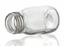 Picture of 30 ml syrup bottle, clear, type 3 moulded glass