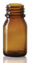 Picture of 4 ml dropper bottle, amber, type 3 moulded glass