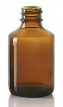 Picture of 50/70 ml diagnostic bottle, amber, type 1 moulded glass