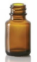 Picture of 10/15 ml diagnostic bottle, amber, type 1 moulded glass
