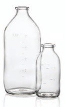 Picture of 500 ml infusion vial, clear, type 1 moulded glass
