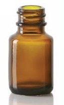 Picture of 6/8 ml diagnostic bottle, amber, type 1 moulded glass