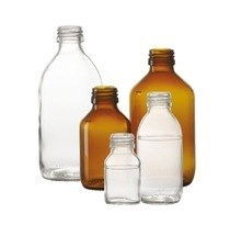 Picture of 60 ml syrup bottle, amber, type 3 moulded glass