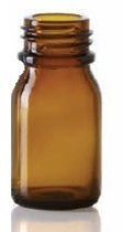 Picture of 10 ml dropper bottle, amber, type 3 moulded glass